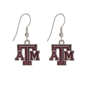 Texas A&M Logo Earrings