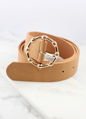 Belt with Bamboo Gold Buckle