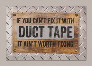 Duct Tape Wood Wall Sign