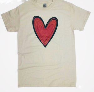 Drawn Heart Graphic T-shirt.