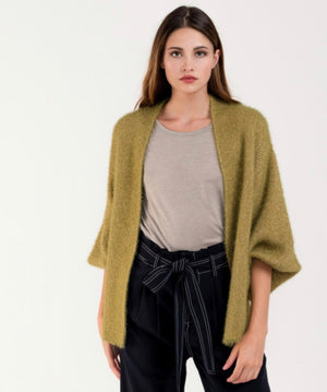 Fuzzy Knit Short Cardigan