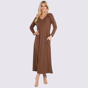 Long Sleeve Soft & Stretchy Maxi Dress
