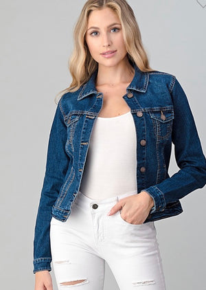 Cropped Denim Jacket - Curvy