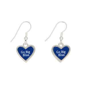 Kentucky Heart Shaped Drop Earrings