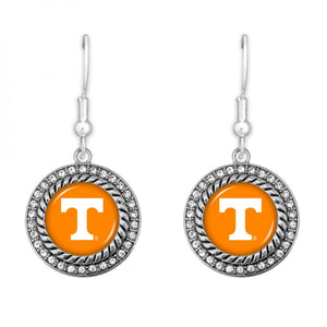 Game Day Drop Earrings with Rhinestone Accents