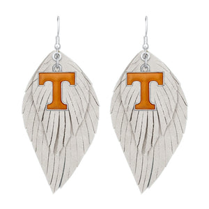 Game Day Feather Drop Earrings