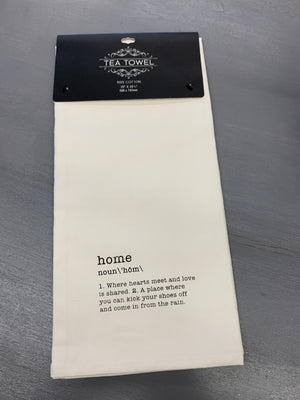 """Home"" Definition  Tea Towel"