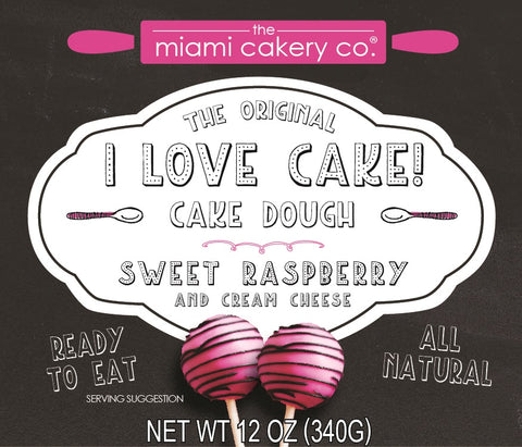I Love Cake! The Original Cake Dough Sweet Raspberry & Cream Cheese