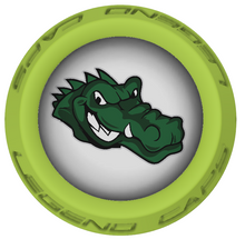 Gators Lacrosse Stick Lime End Caps
