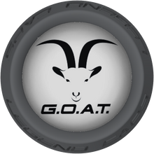 GOAT Face Lacrosse Stick Gray End Cap