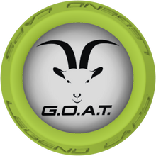 GOAT Face Lacrosse Stick Lime End Cap
