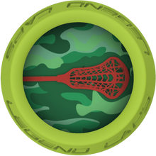 Camo Lacrosse Stick Lime End Cap