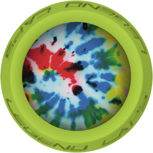 Tie Dye Lacrosse Stick Lime End Cap
