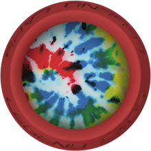 Tie Dye Lacrosse Stick Red End Cap