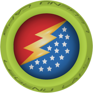 Wonder Woman Lacrosse Stick Lime End Cap