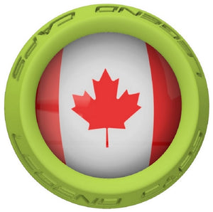 Canada Lacrosse Stick Lime End Cap