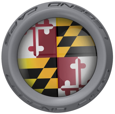 Maryland Lacrosse Stick Gray End Cap