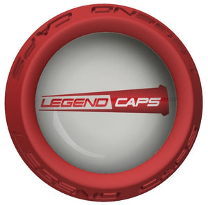 Custom Red Lacrosse Stick End Cap
