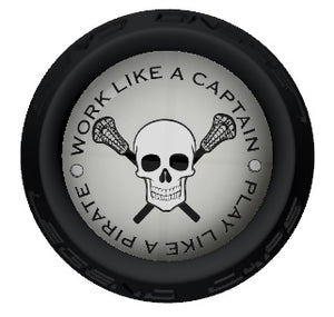 Skull Lacrosse Stick Black End Cap