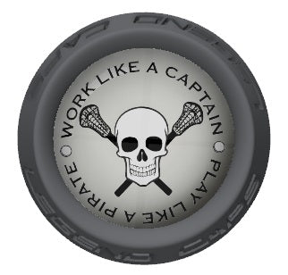 Skull Lacrosse Stick Gray End Cap