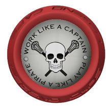 Skull Lacrosse Stick Red End Cap