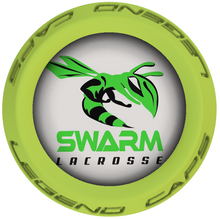 Swarm Lacrosse Stick Lime End Caps