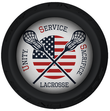 USS Lacrosse Stick Black End Cap