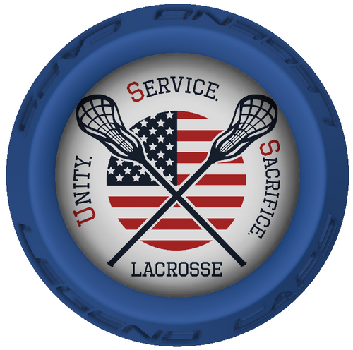 USS Lacrosse Stick Blue End Cap