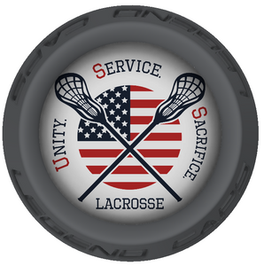 USS Lacrosse Stick Gray End Cap