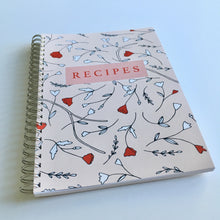 Pink floral recipe book