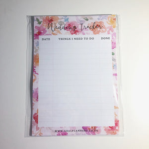 Inserts - wedding tracker