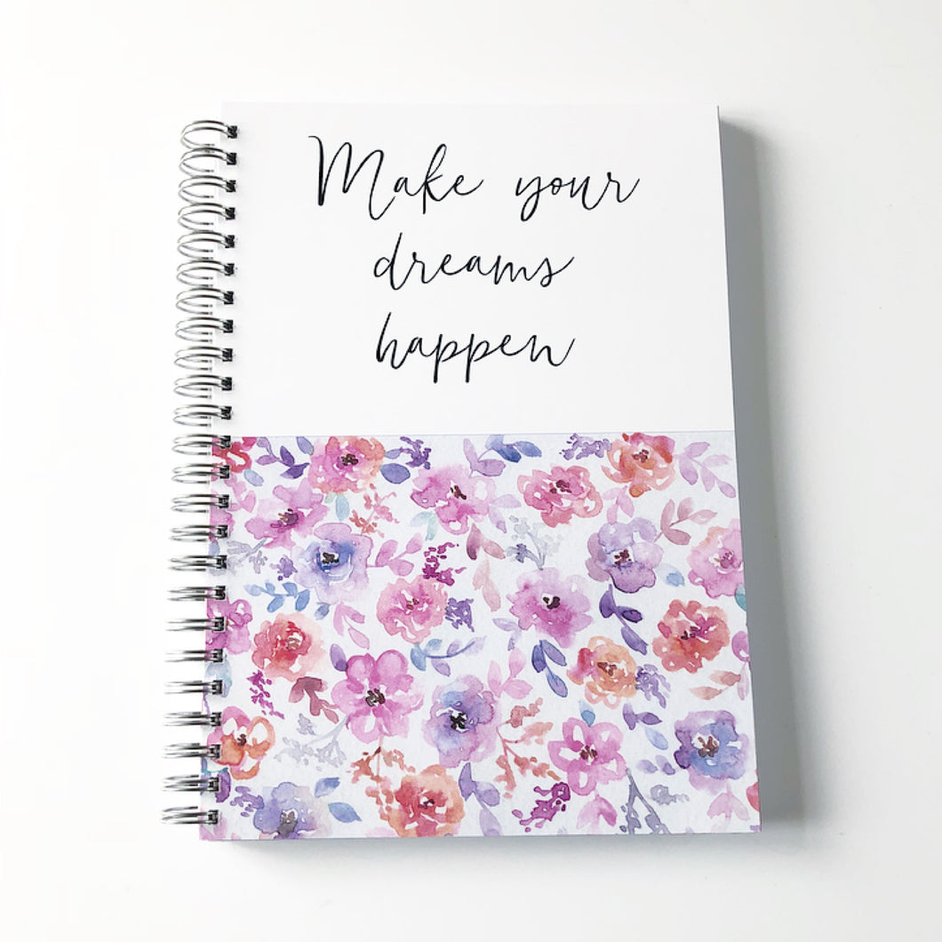 Make your dreams happen planner