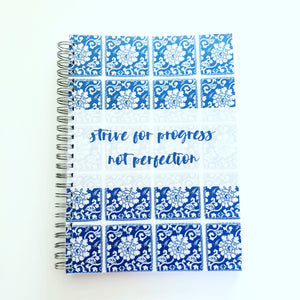 Notebook - blue tile