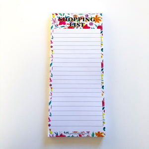 Handrawn floral shopping list pad