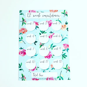 Light blue floral spring countdown