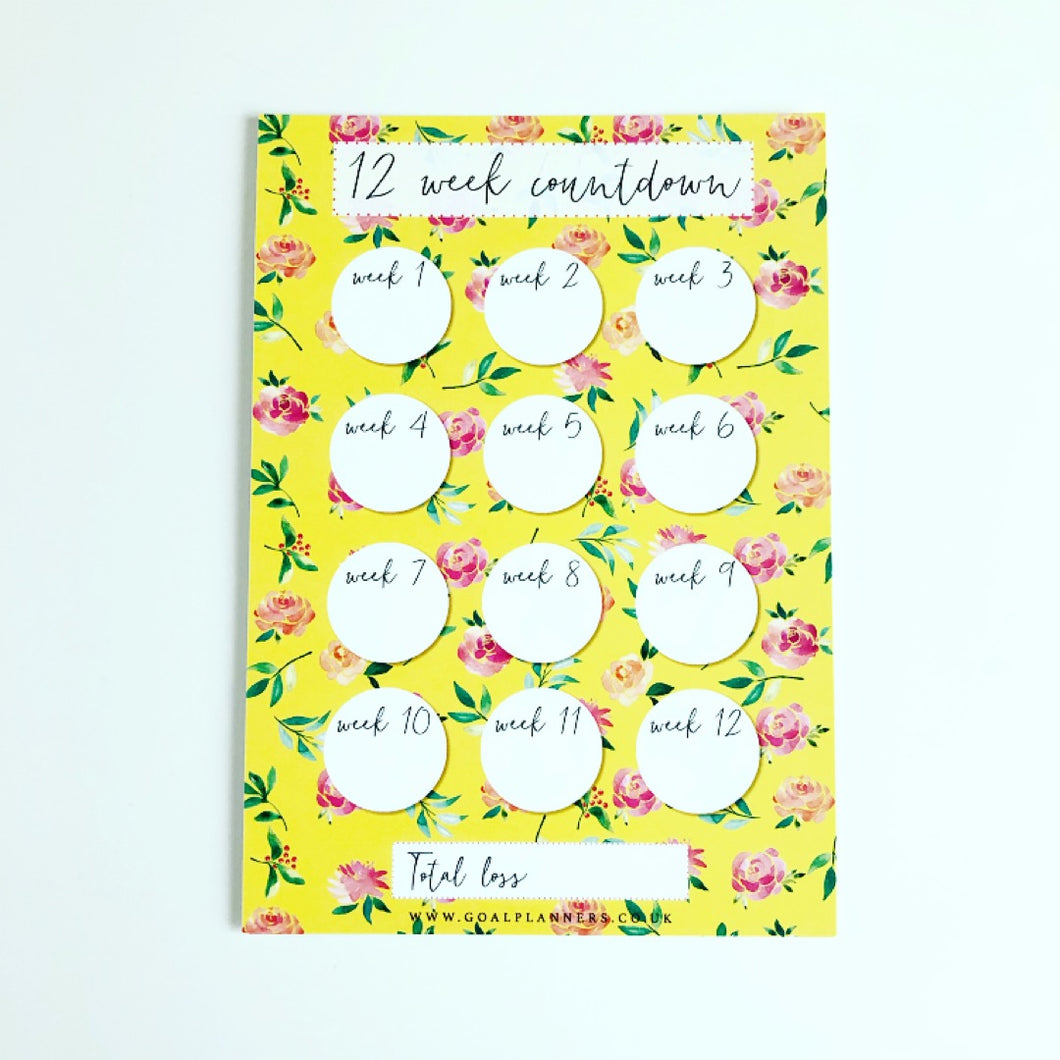 Yellow Floral spring countdown