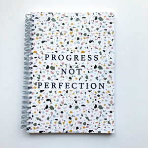 Progress not perfection terrazzo Planner