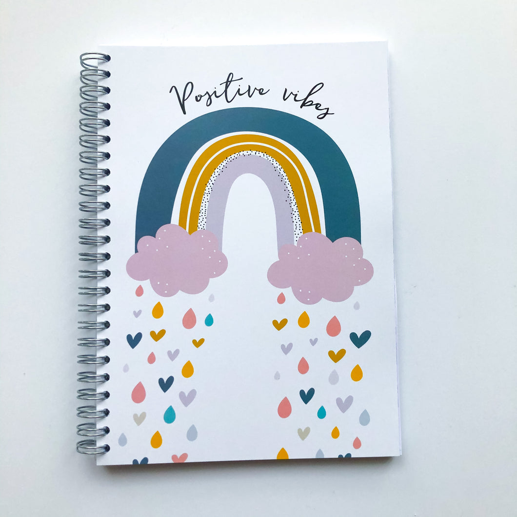 Positive vibes rainbow Planner