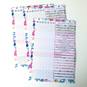 Inserts - Wellness tracker - Floral