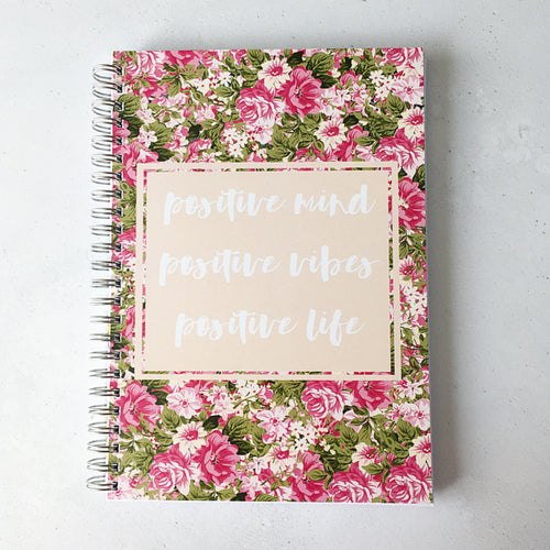 positive mind, positive vibes, positive life planner