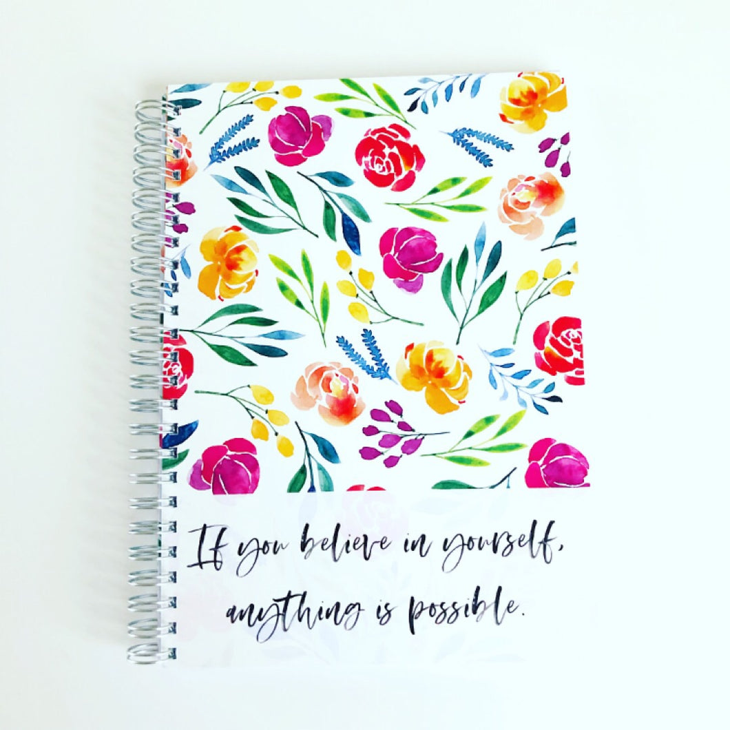 Believe in yourself food diary