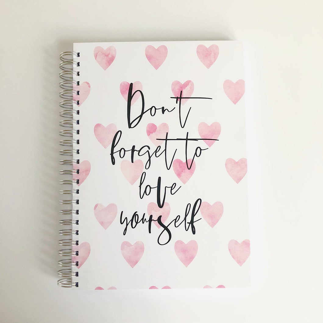 Don't forget to love yourself food diary