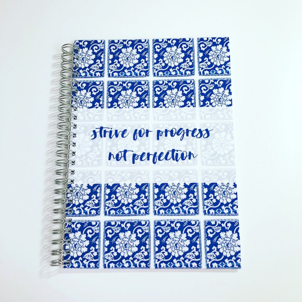 Strive for progress not perfection Planner