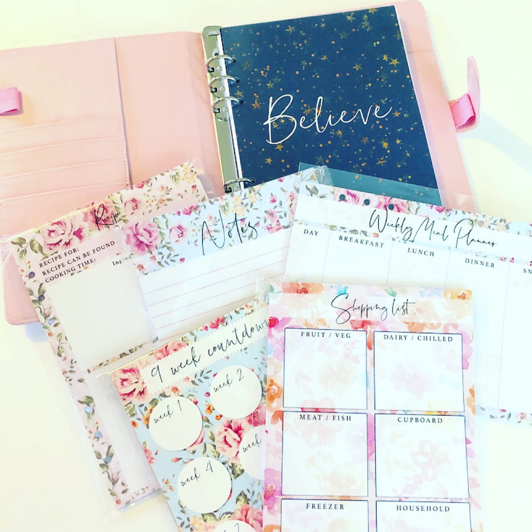 Organiser and inserts bundle