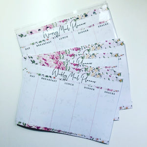 Inserts - pink floral weekly meal planner