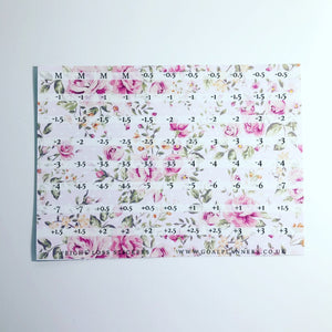Pink floral weight loss stickers