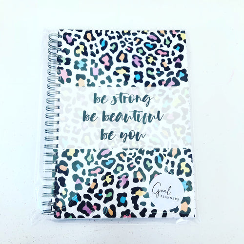 Notebook - multicoloured leopard print