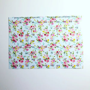 Pretty floral weight loss stickers