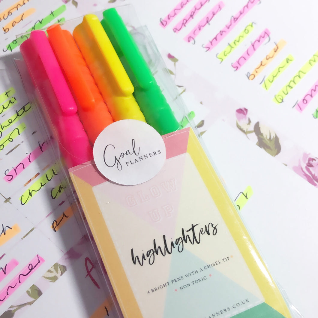 Highlighter pens - set of 4