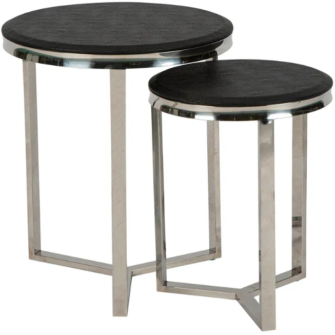 Le Moux Nesting 2 Tables Black